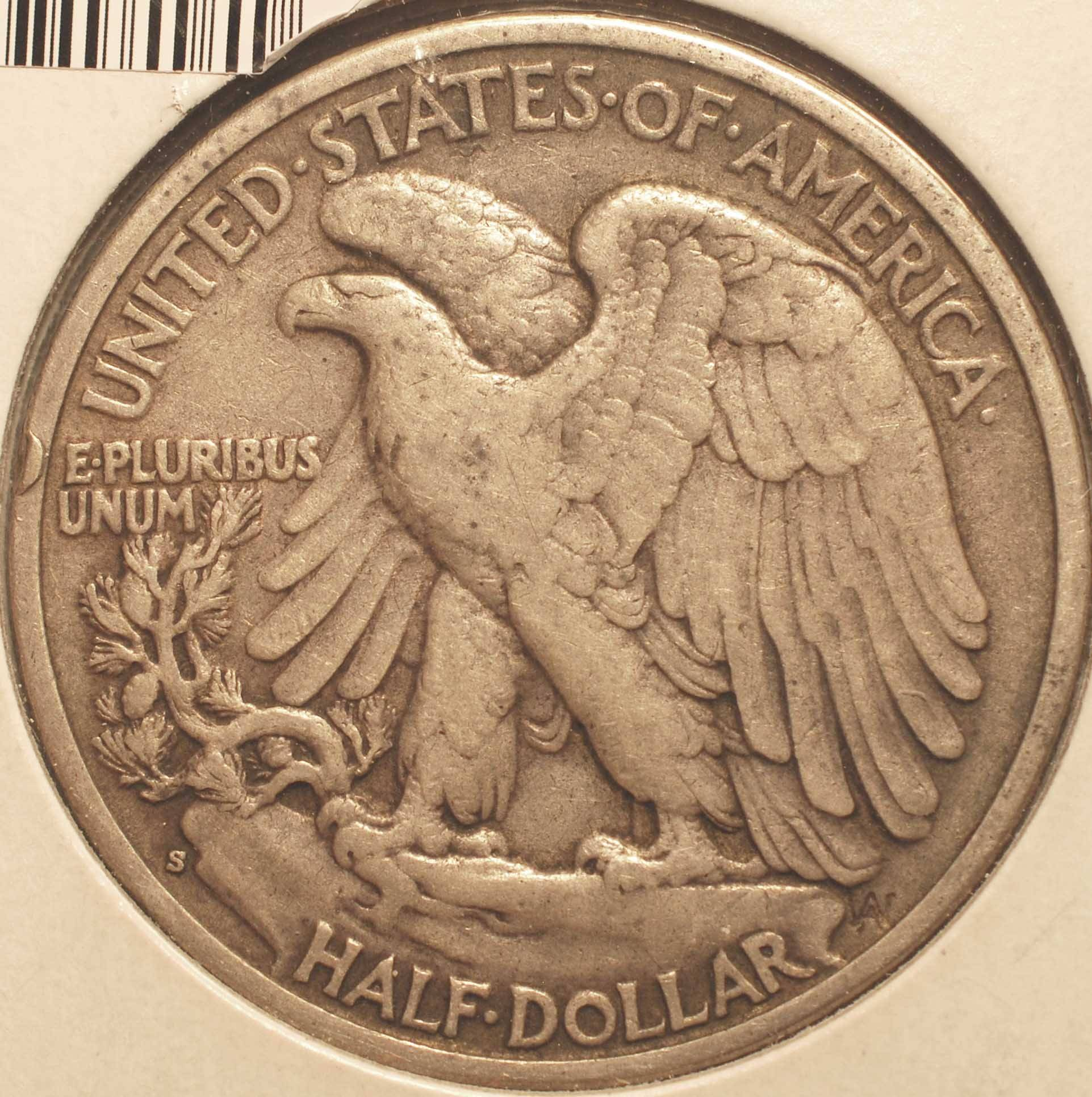 1933-S Walking Liberty Half reverse