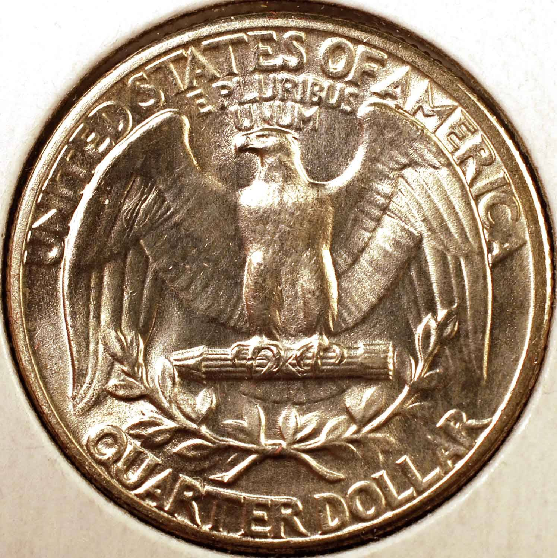 1936 Washington Quarter BU Reverse