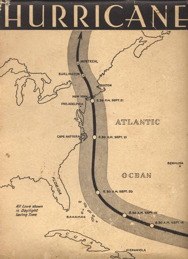 1938 Hurricane Historical Record Rear Cover