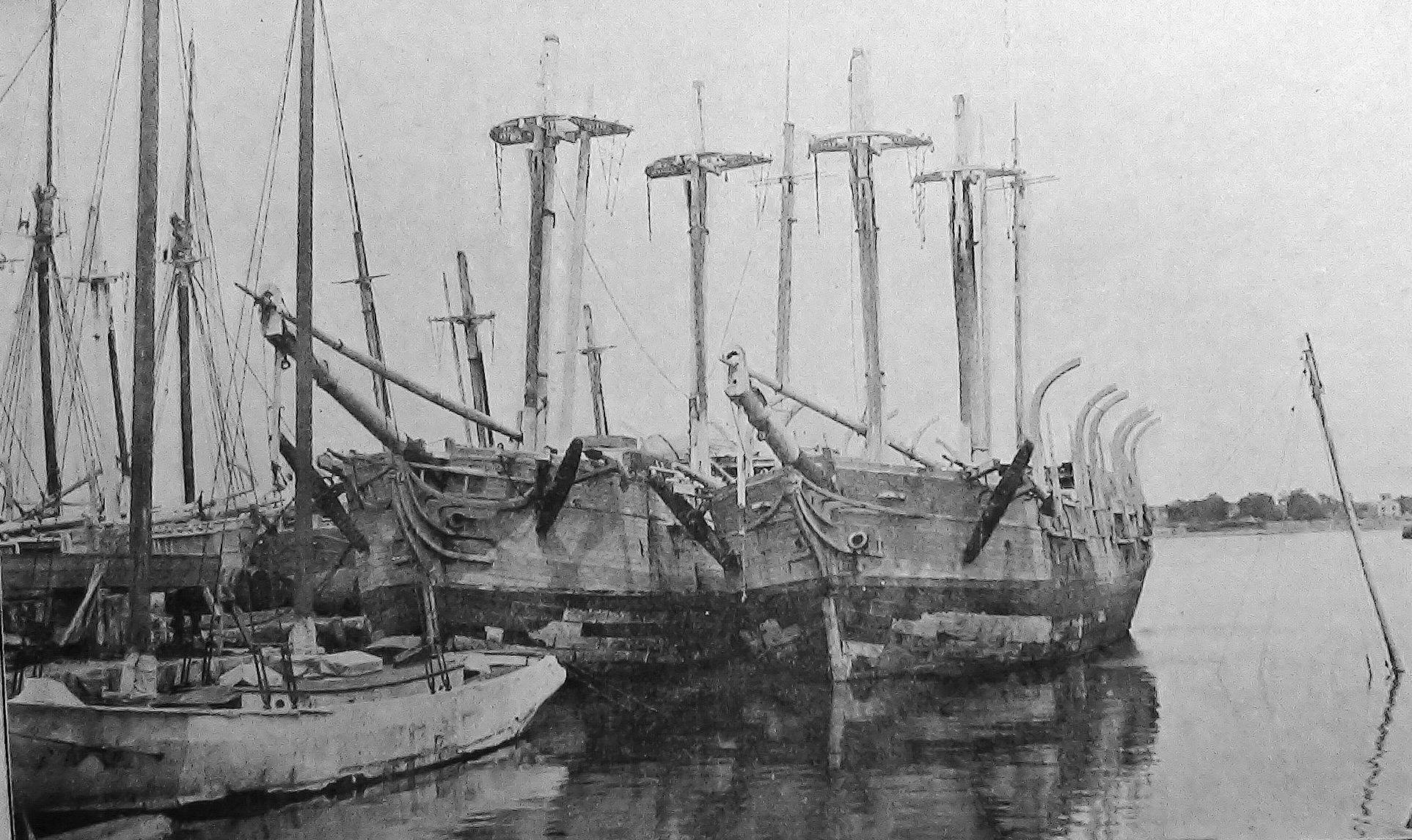 Old Whalers New Bedford Pier c1896