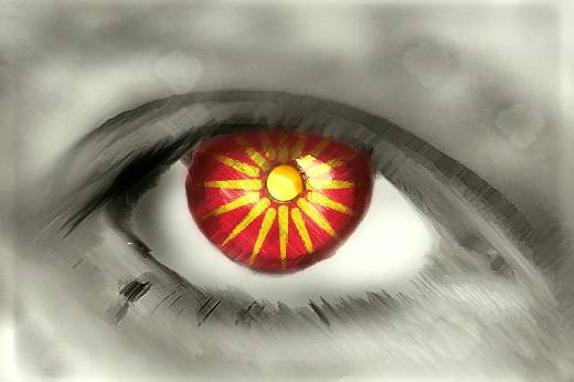 Macedonian Flag Eye - Makedonsko Zname Oko