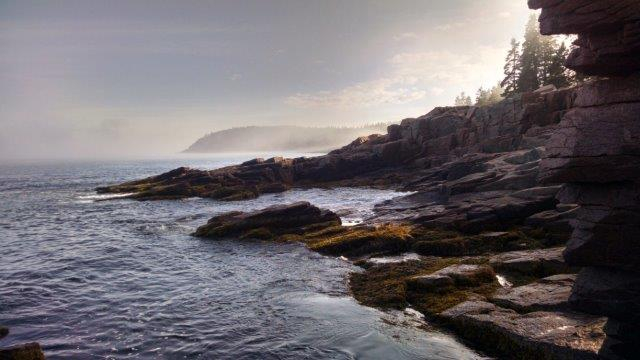 View of the shore from Thunder Hole