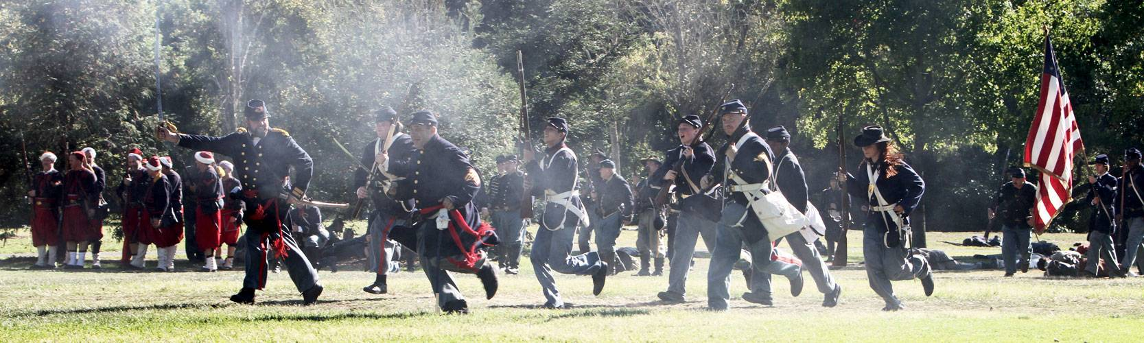 Marines charge Confederate battery (2010)