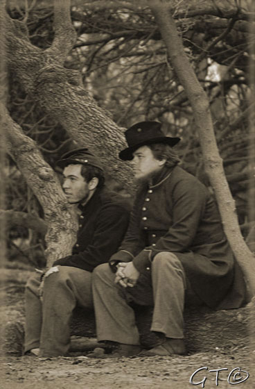 Union soldiers at rest