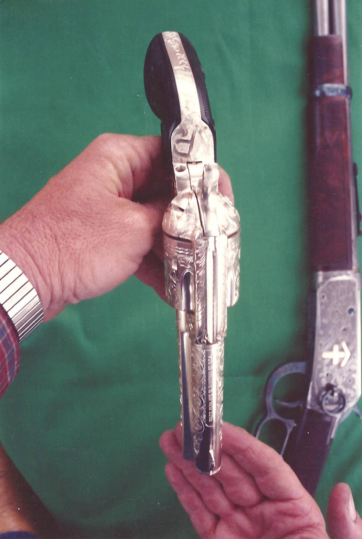 One of a pair of Colt 45's I did to match for G.V. Peer