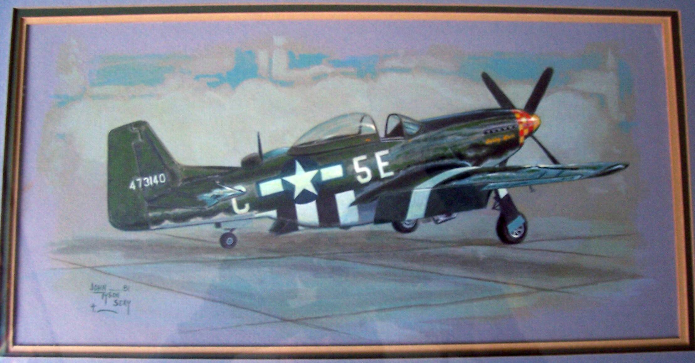 P-51D Mustang, a plane I'd love to fly. I did this just to show I could paint airplaine's.