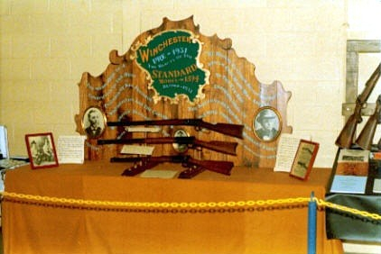 Winchester display Johnny built for Gun Shows which won him some Awards