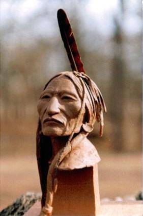 "Another view of ""Lakota Warrior"""