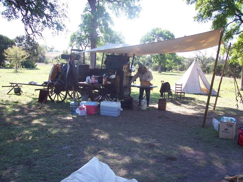 Another shot of the Chuckwagon and camp