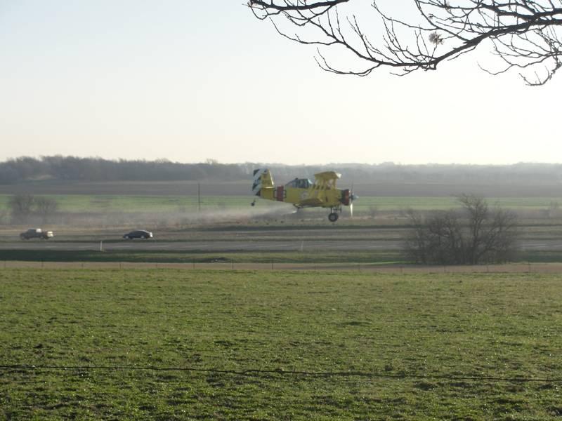 Another shot spraying Kilroy's Coastal Hay field