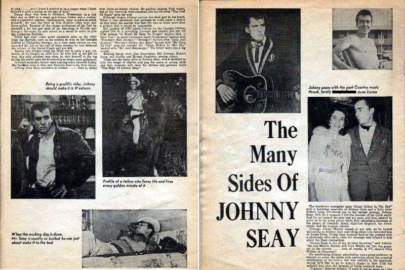"""The picture that says """"Margie Bowes"""" and Johnny Seay is not Margie,but June Carter."""
