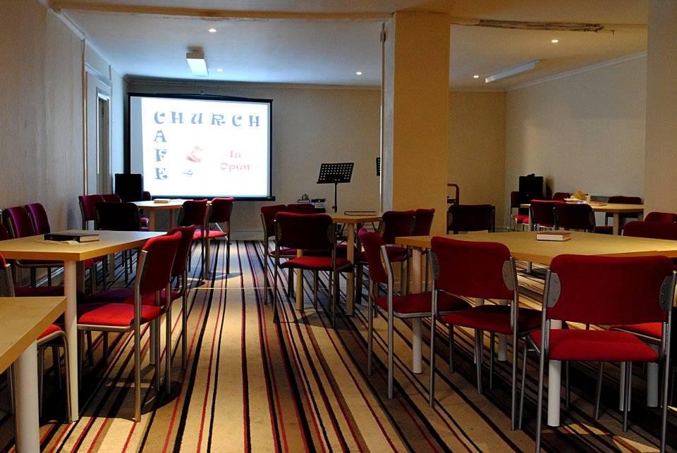 Main Hall set up...