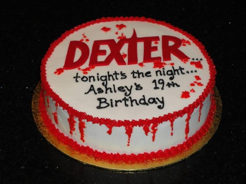 "Ashley's 19th Birthday ""Dexter"" cake"