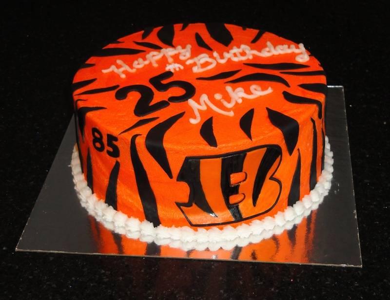 Cincinnati Bengals Tiger Stripe Cake