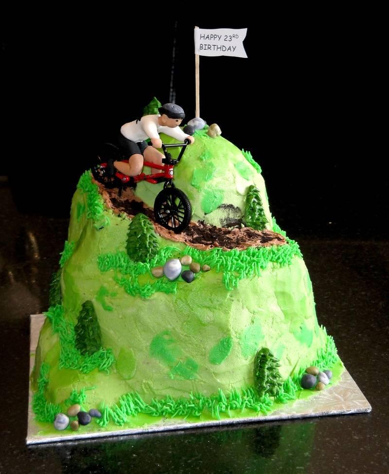 Mountain Bikers Birthday Cake