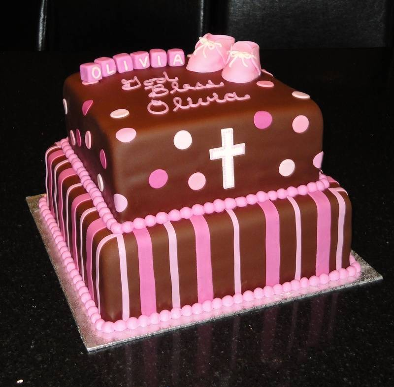 Baptism / Christening Cake for Olivia