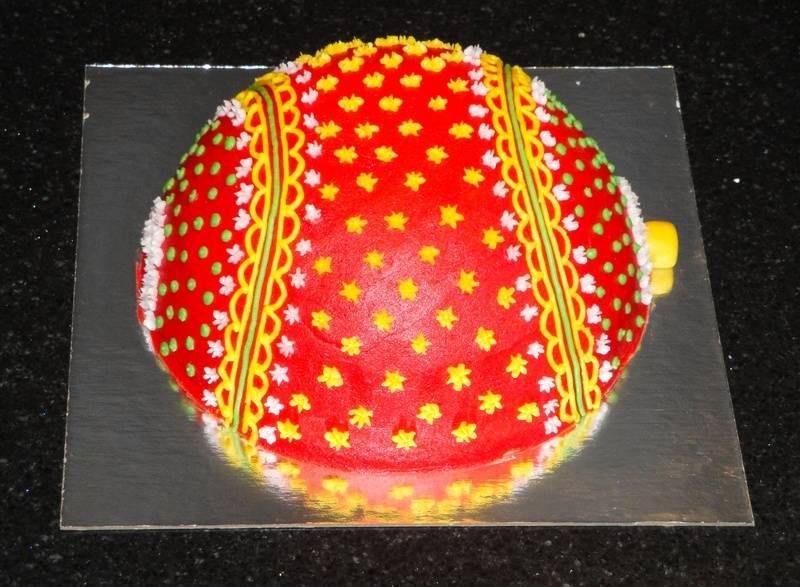 Christmas Ball Cake