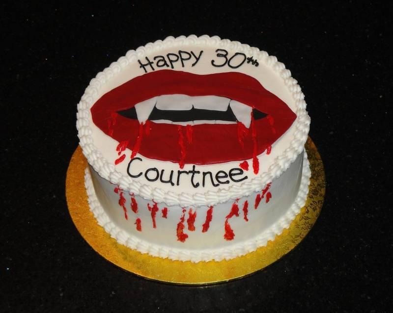 Vampire Lover's Birthday Cake