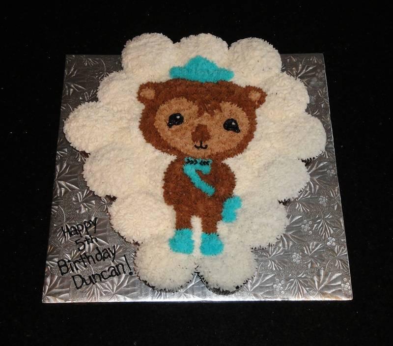 Shellington Cupcake Cake