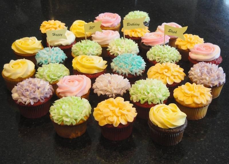 Multi Coloured Birthday Cupcakes