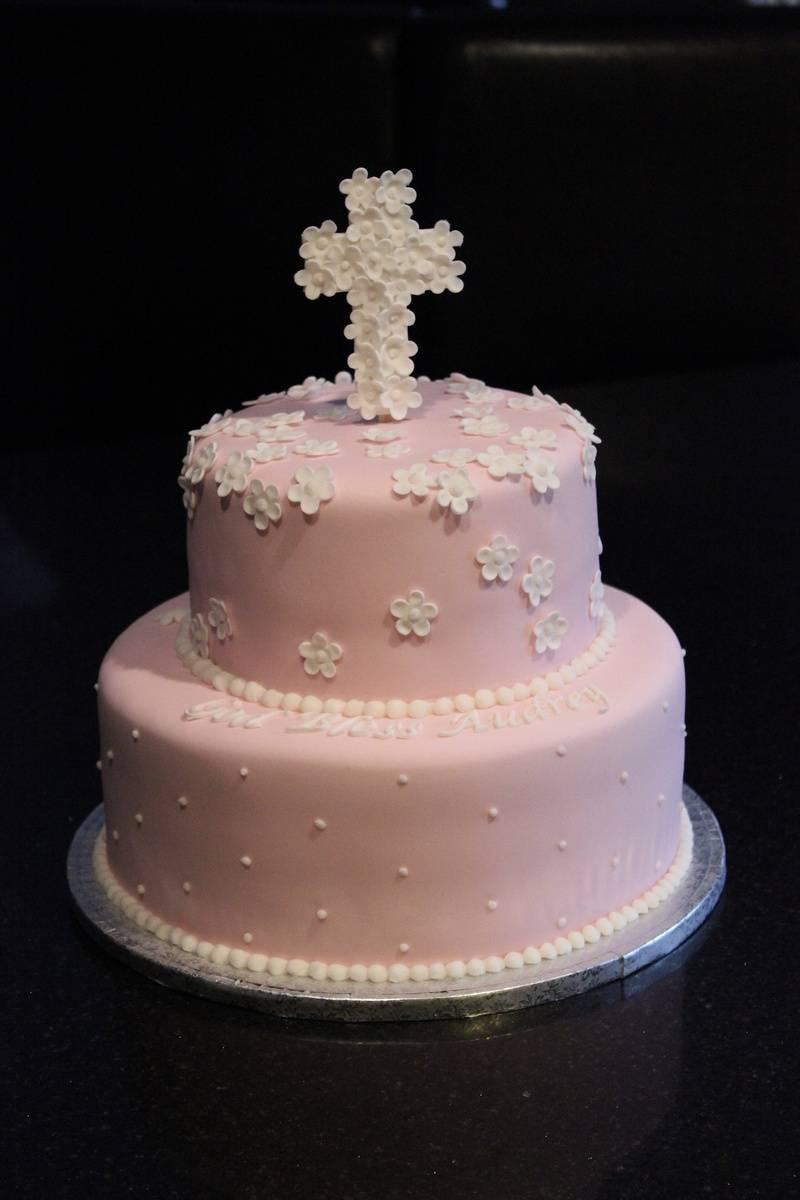 Baptism Cake for Audrey