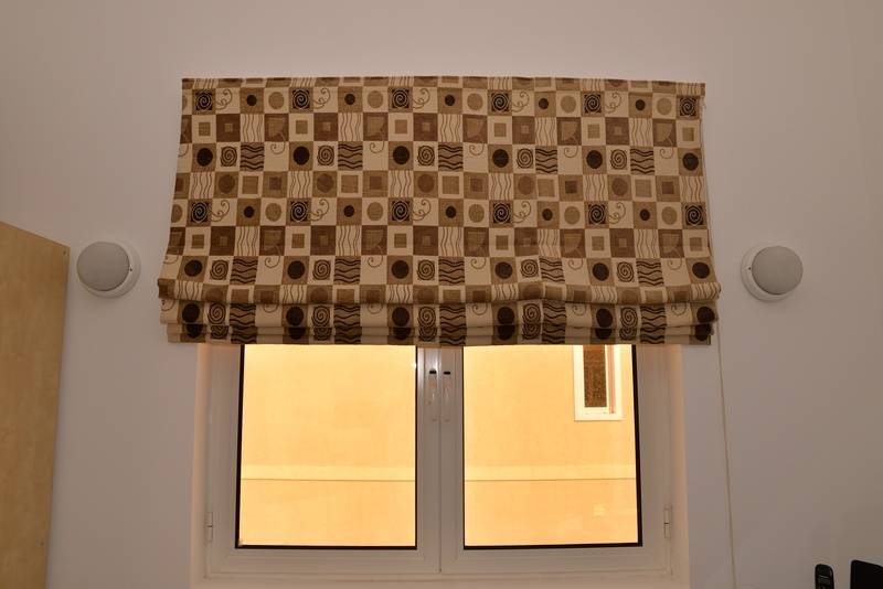 Roman Blind for front bedroom includes fittings