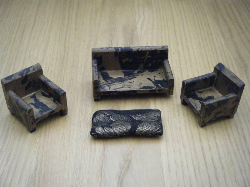 Tiny Toy Black/Gold 3 Piece Suite