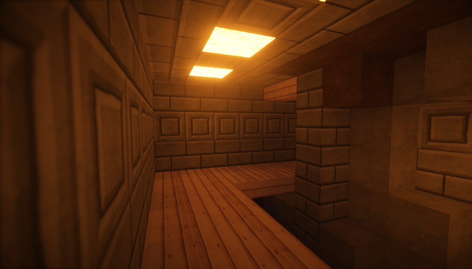 Entrance to secret base with Shaders Mod