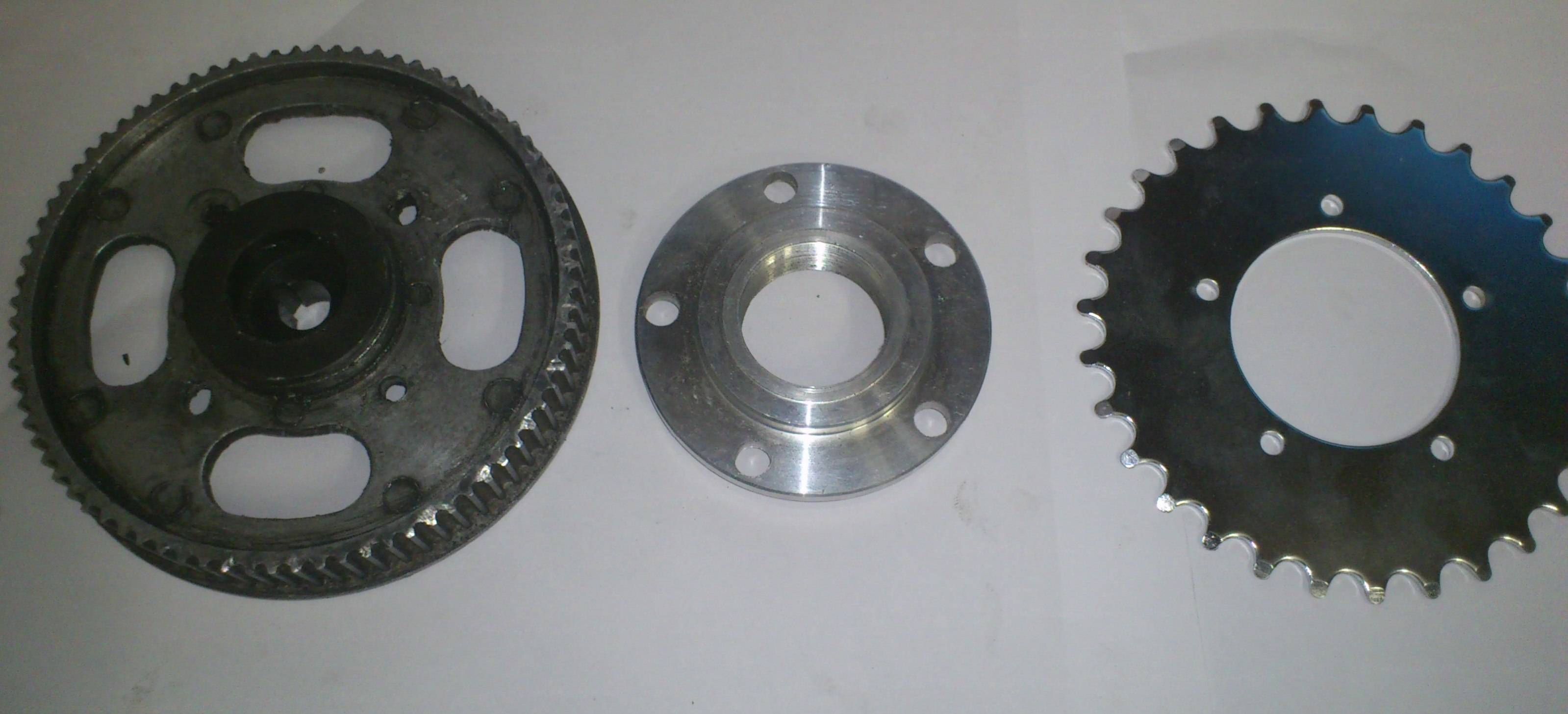 original pulley, chainring adapter,30t Sprocket