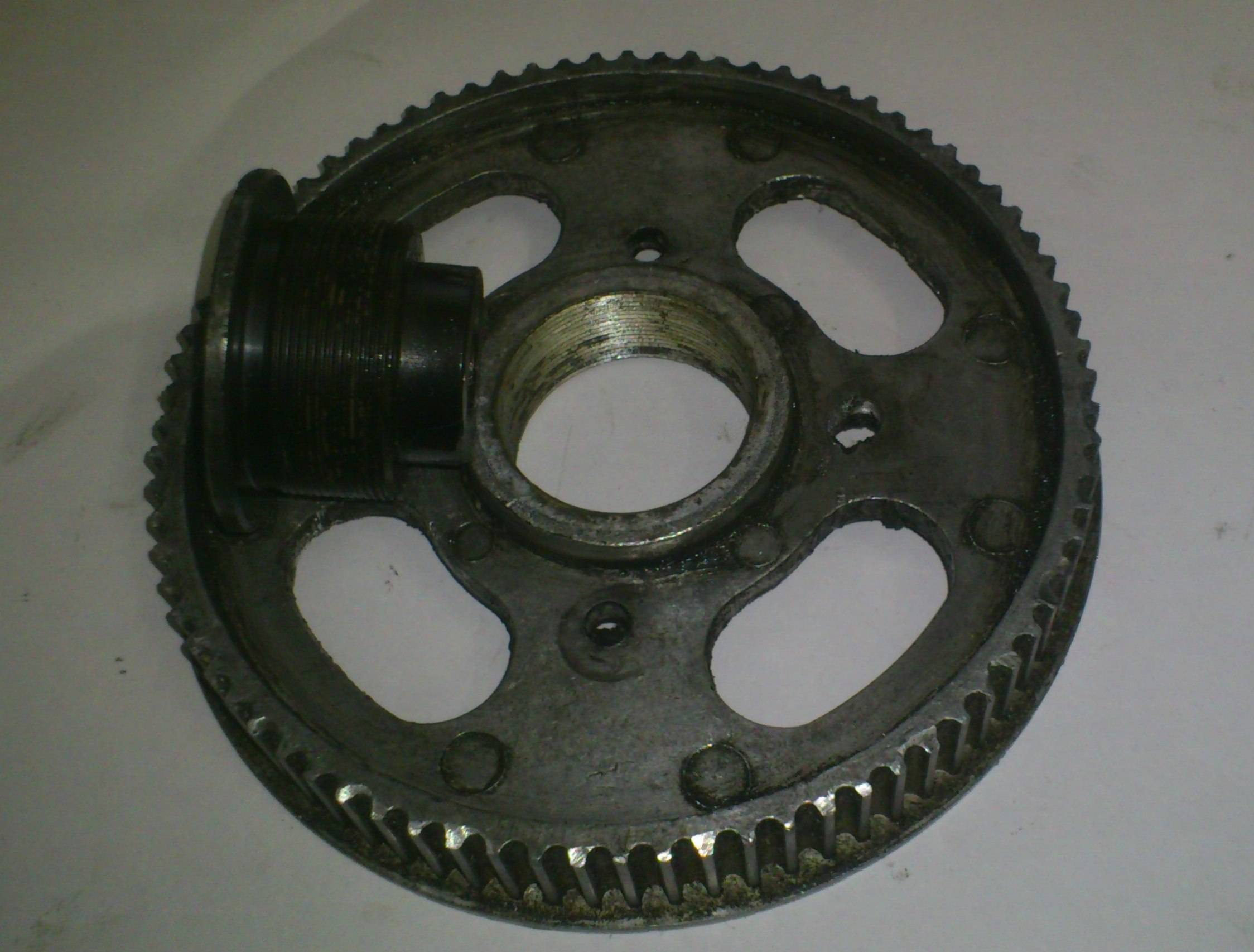 original pulley with the nut out side