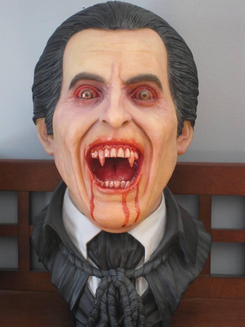 Christopher Lee Dracula 1:1  Resin Bust Painted by Greg McKellar