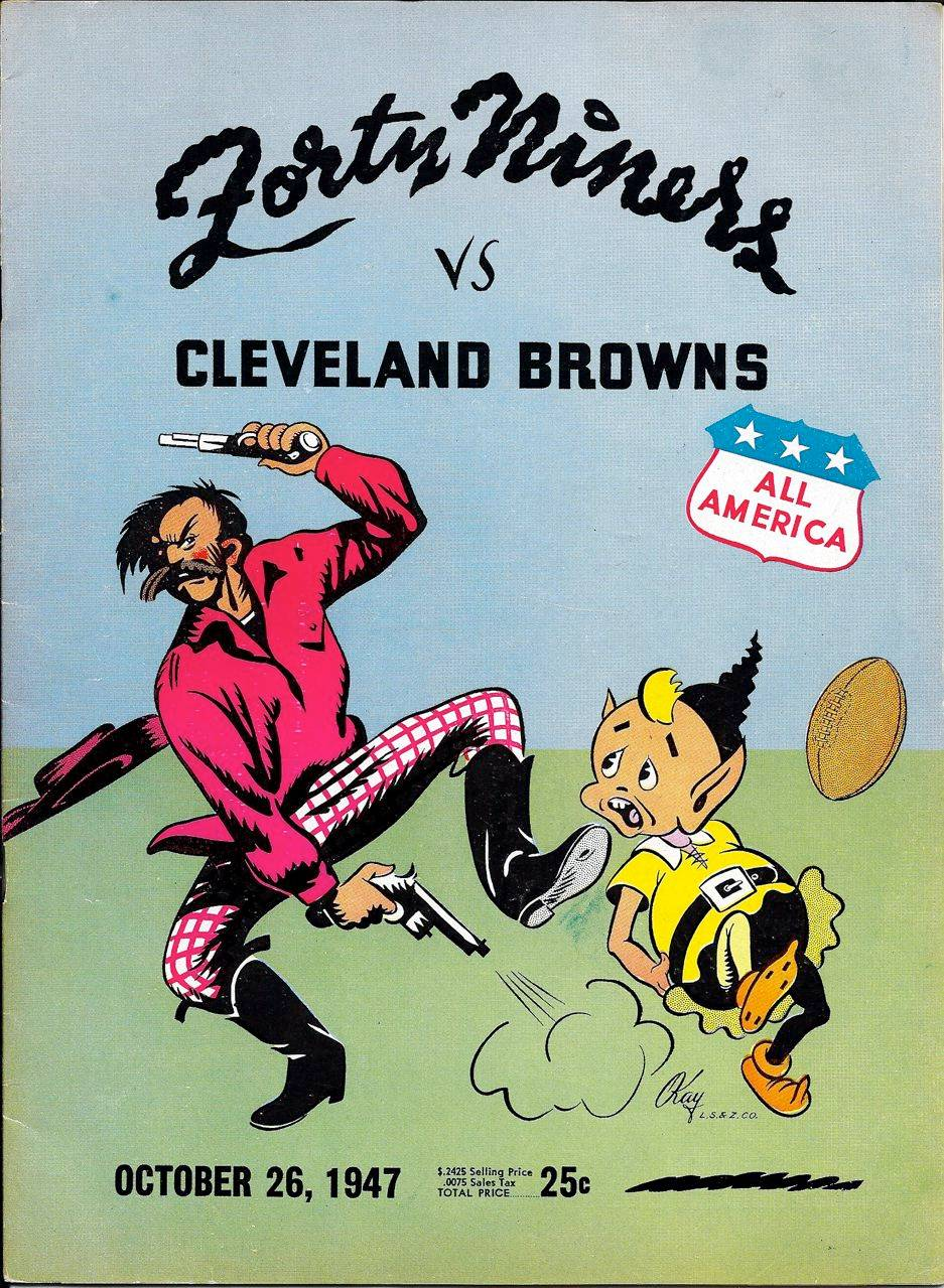 Browns at the Niners 1947