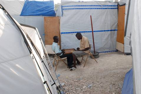 Checkers in IDP Camp