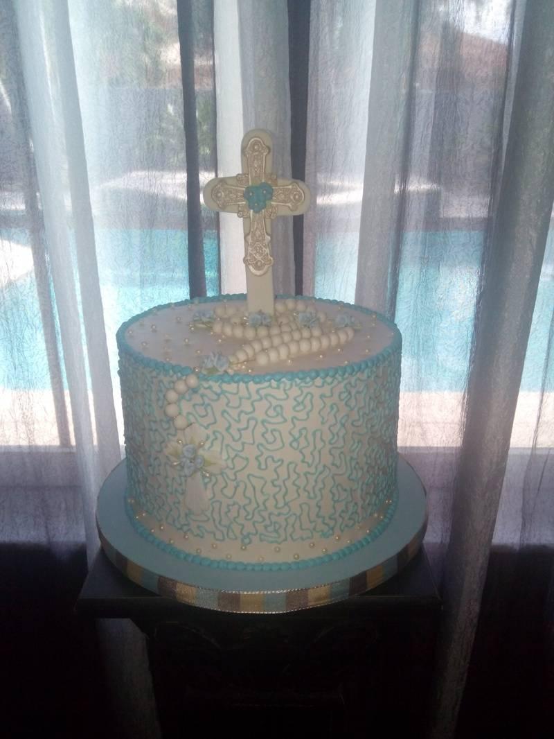 Baptism Buttercream Cake