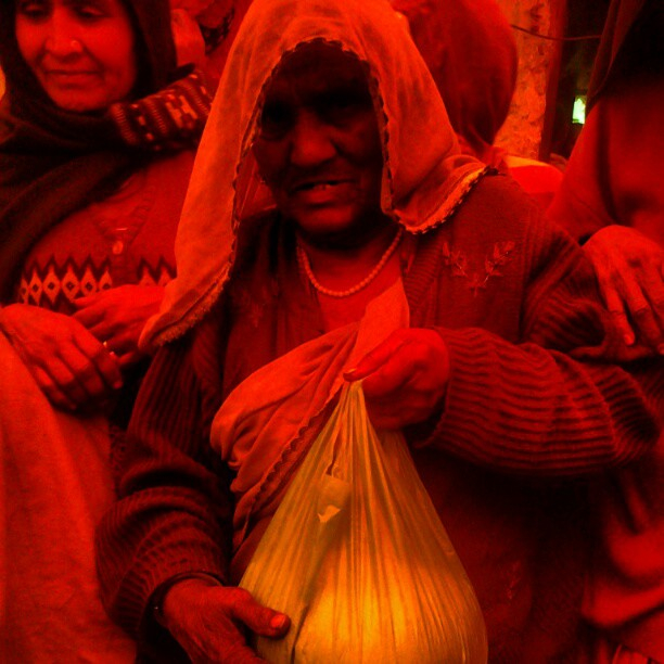 Providing Job and Food In slums 2013 project to Widows