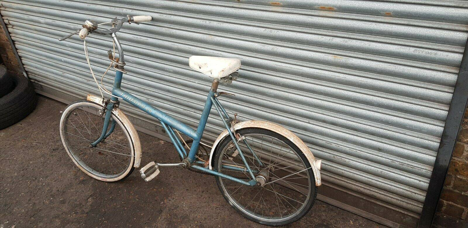 Blue Frame with White Mudguards