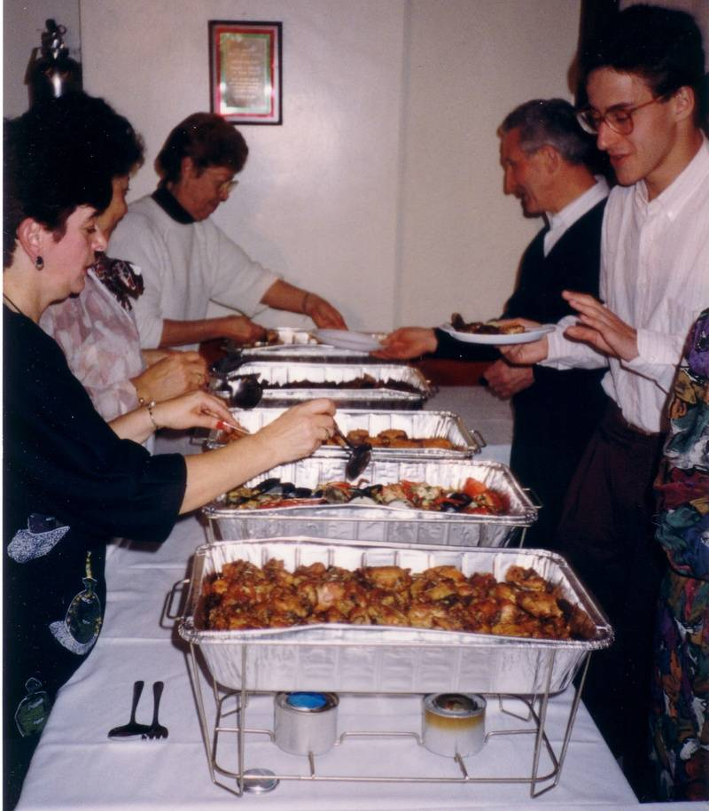 1990s NY banquet foodline
