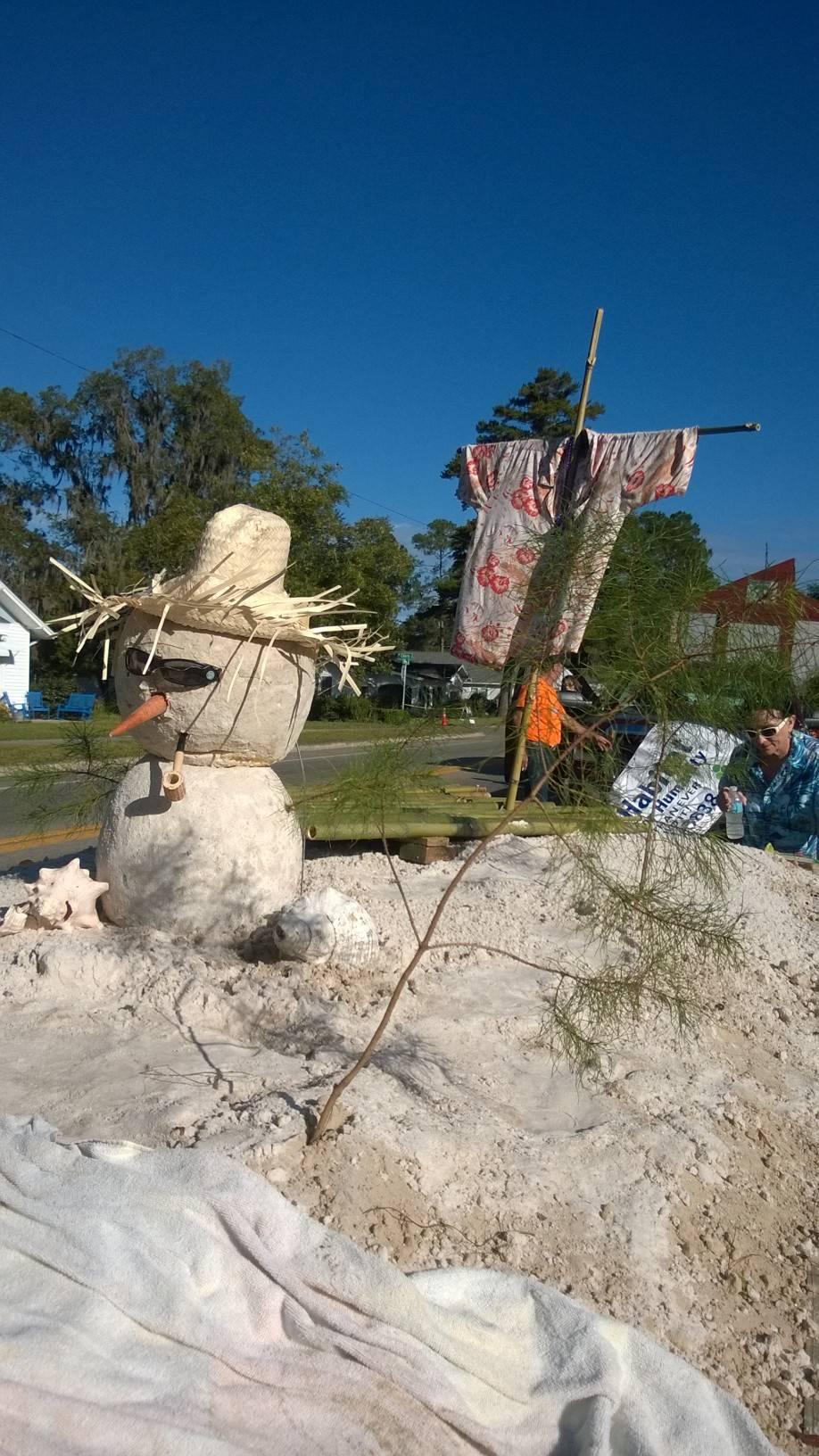 our snow/sand man