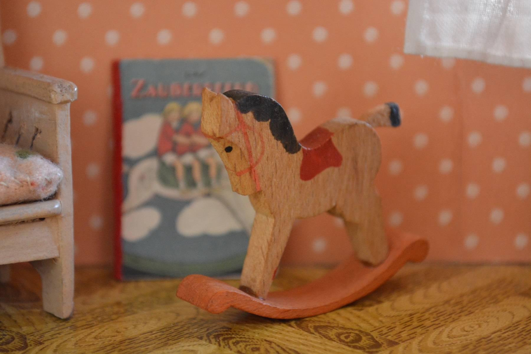 Rocking horse close up