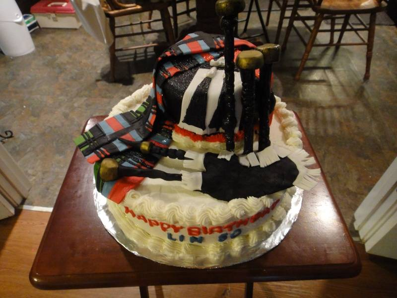Georgia tartan Cake