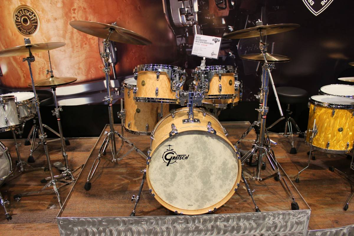 Gretsch Renown kit in natural finish.