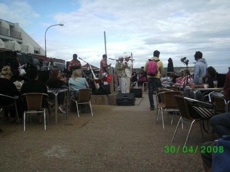 Beach Boys band in bar on Sandown Beach