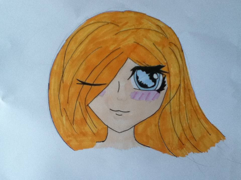 My attempt at anime! (Or bacon face to my bitchy friends)