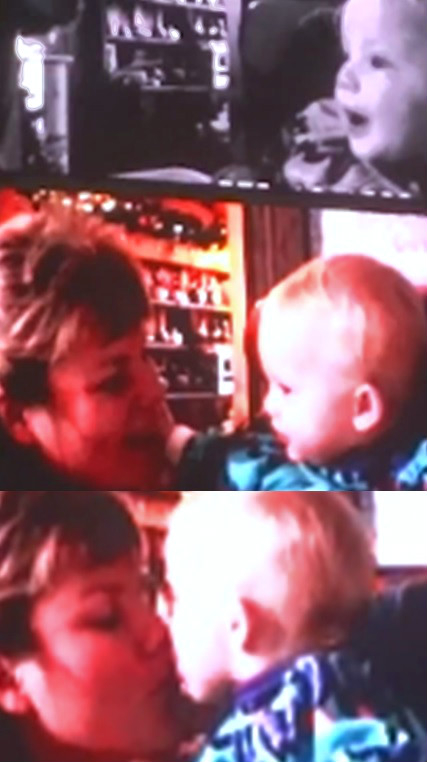 Taylor with her mom on her 1st birthday