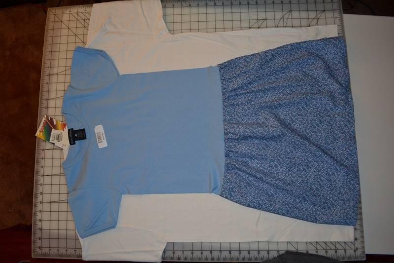 T-shirt dress on an Adult XL t-shirt