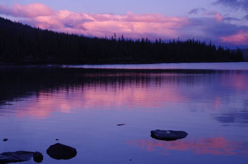 Olallie Lake sunset