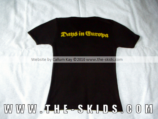 Days in Europa T-Shirt (Back)