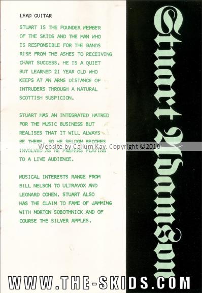 Skids Propaganda 1979 Booklet