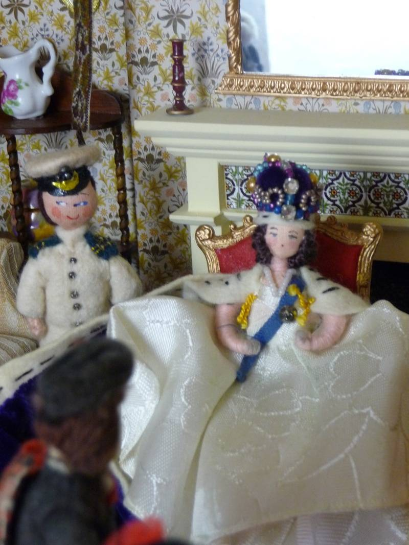 """The guests were about to leave when, clearing her throat to get their attention, the Queen suddenly announced, """"One more thing before you go my brave Rabbie""""."""