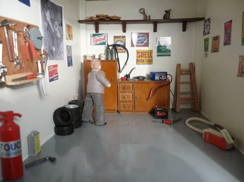 New shelf in garage.